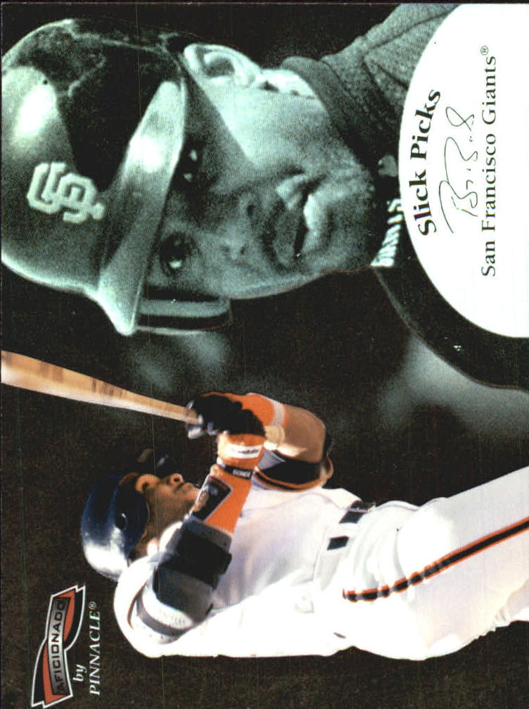 1996 Pinnacle Aficionado Slick Picks #7 Barry Bonds