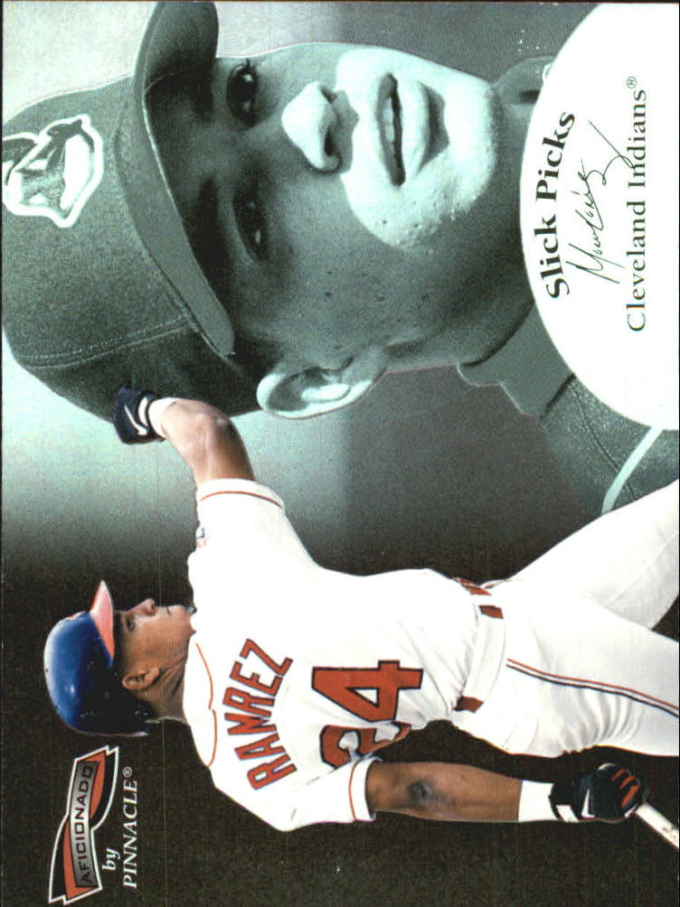 1996 Pinnacle Aficionado Slick Picks #13 Manny Ramirez