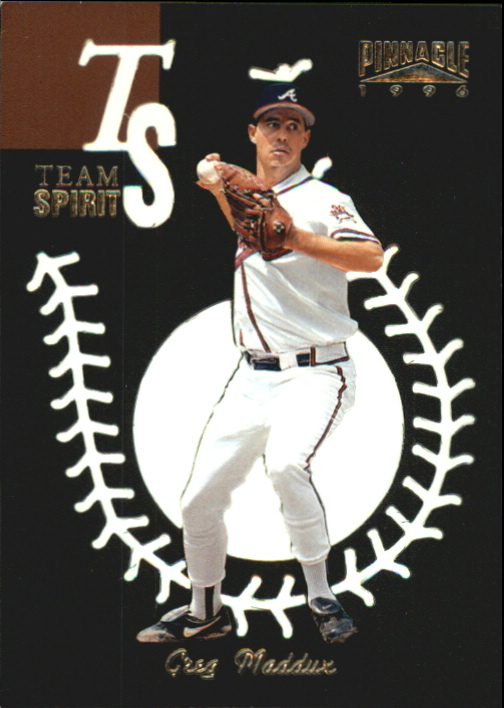 1996 Pinnacle Team Spirit #1 Greg Maddux