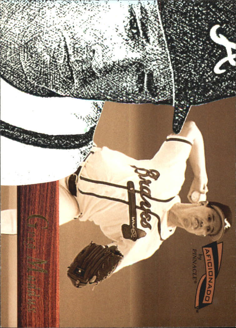1996 Pinnacle Aficionado #22 Greg Maddux