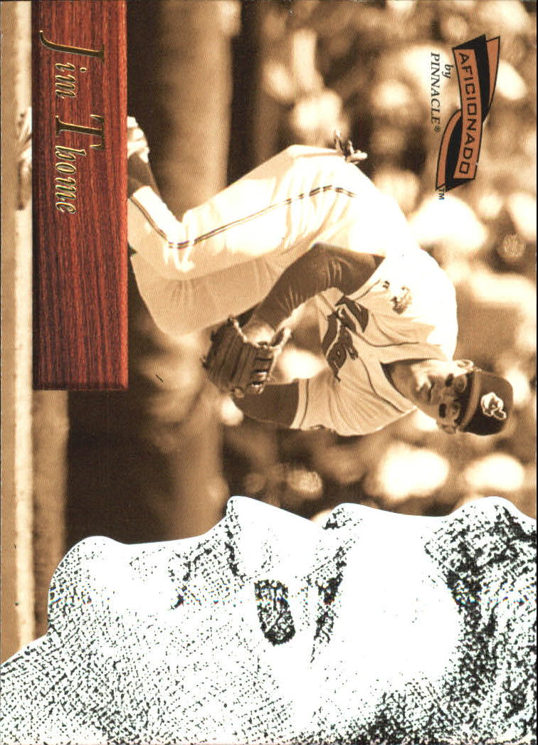 1996 Pinnacle Aficionado #90 Jim Thome