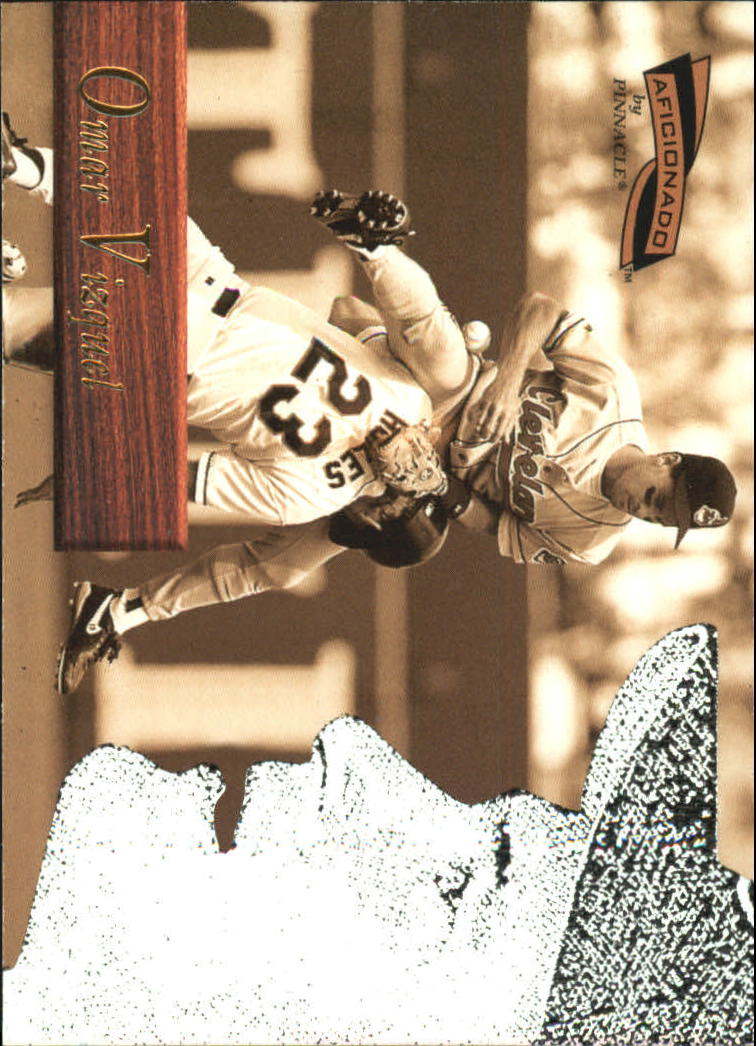 1996 Pinnacle Aficionado #98 Omar Vizquel