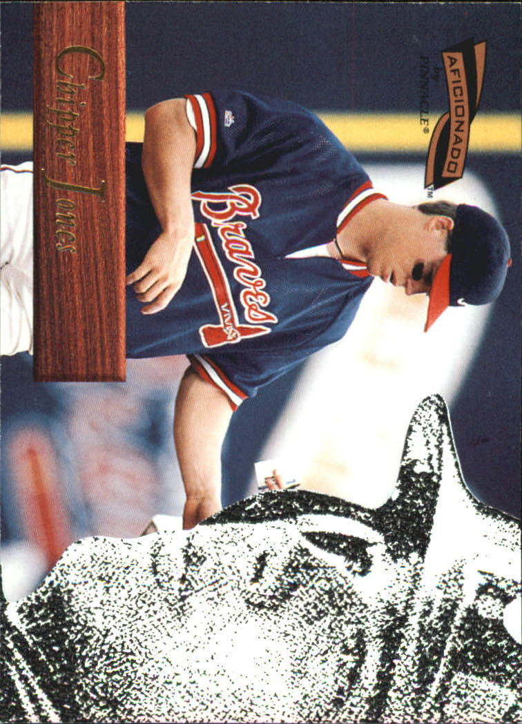 1996 Pinnacle Aficionado #127 Chipper Jones
