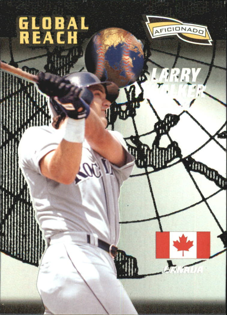 1996 Pinnacle Aficionado #152 Larry Walker GR