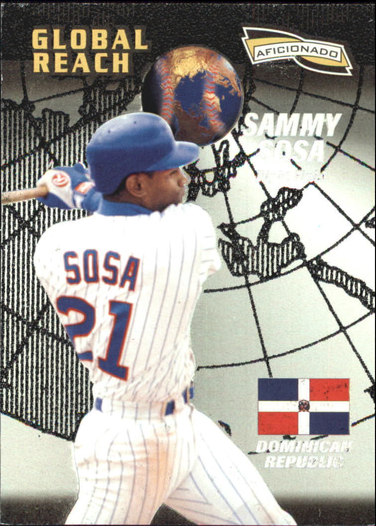 1996 Pinnacle Aficionado #158 Sammy Sosa GR