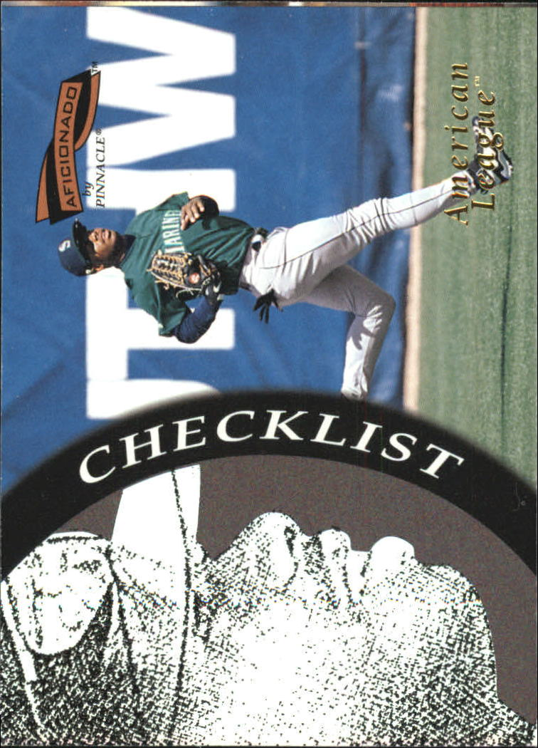 1996 Pinnacle Aficionado #196 Ken Griffey Jr. CL