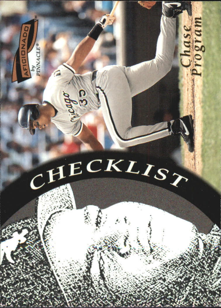 1996 Pinnacle Aficionado #200 Frank Thomas CL