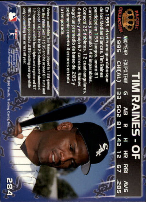 1996 Pacific #284 Tim Raines