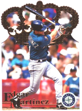 1996 Pacific Gold Crown Die Cuts #DC5 Edgar Martinez