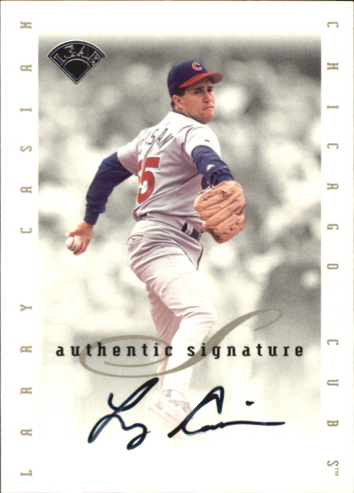 1996 Leaf Signature Extended Autographs #26 Larry Casian