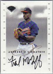 1996 Leaf Signature Extended Autographs #124 Fred McGriff SP/1000