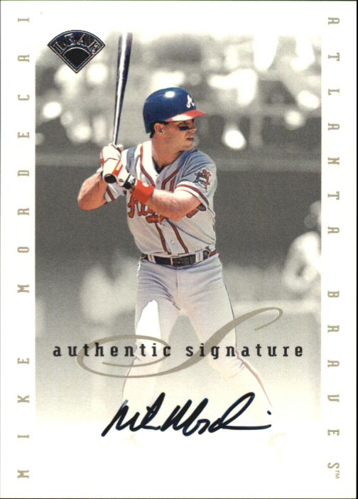 1996 Leaf Signature Extended Autographs #132 Mike Mordecai