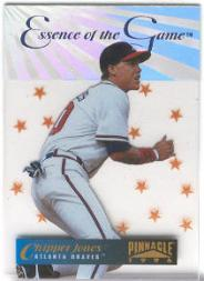 1996 Pinnacle Essence of the Game #5 Chipper Jones