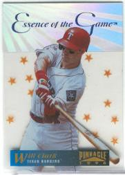 1996 Pinnacle Essence of the Game #16 Will Clark