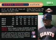 1996 Bowman's Best Previews Refractors #BBP4 Barry Bonds back image