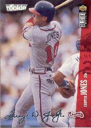 1996 Collector's Choice Silver Signature #42 Chipper Jones