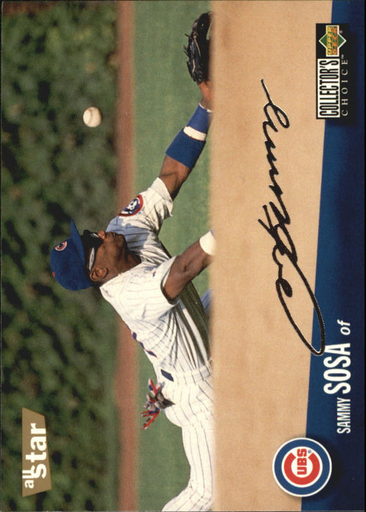 1996 Collector's Choice Silver Signature #490 Sammy Sosa