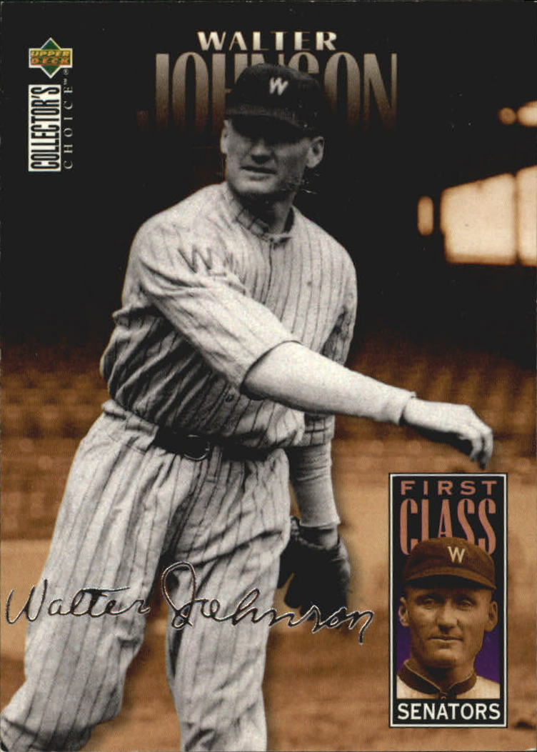 1996 Collector's Choice Silver Signature #502 Walter Johnson FC