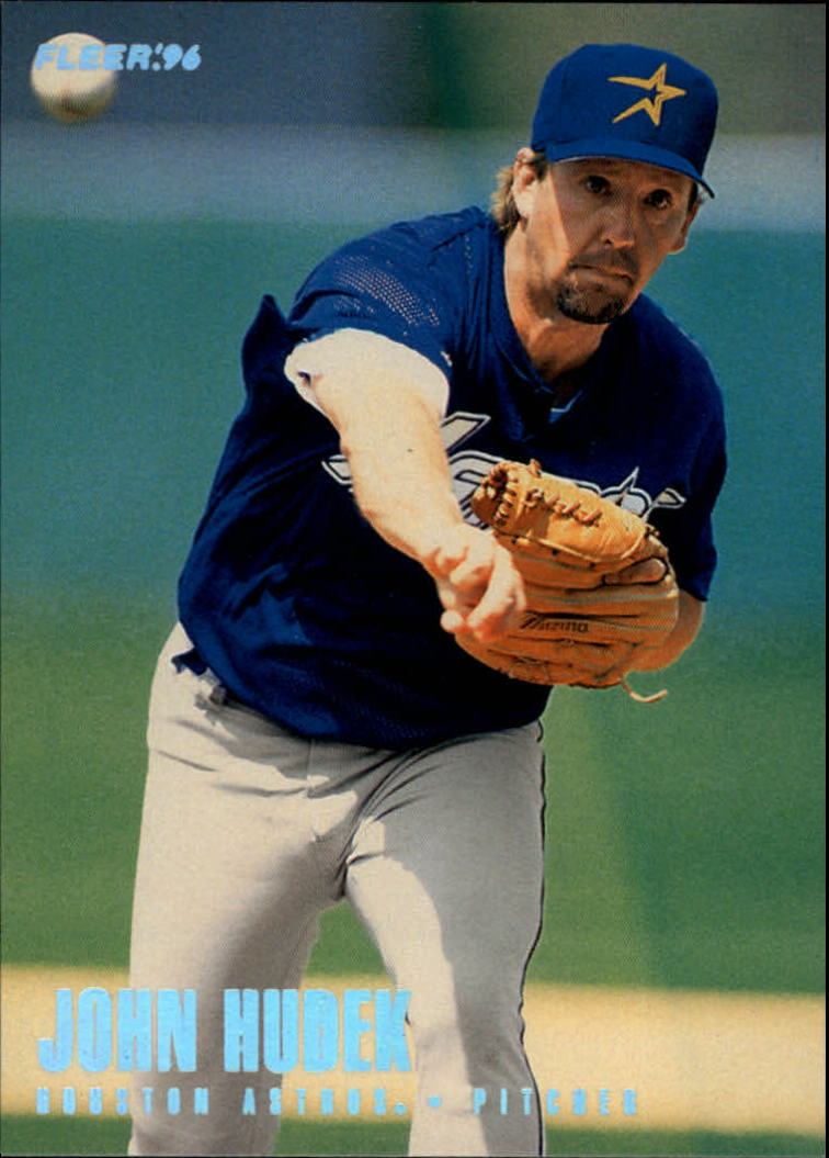 2011nm:`eK�^�;�b���少_棒球  1996 fleer tiffany #410 john hudek - nm     front     back