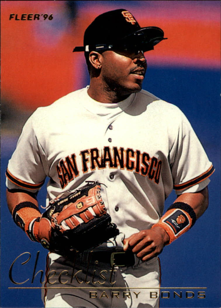 1996 Fleer Checklists #1 Barry Bonds