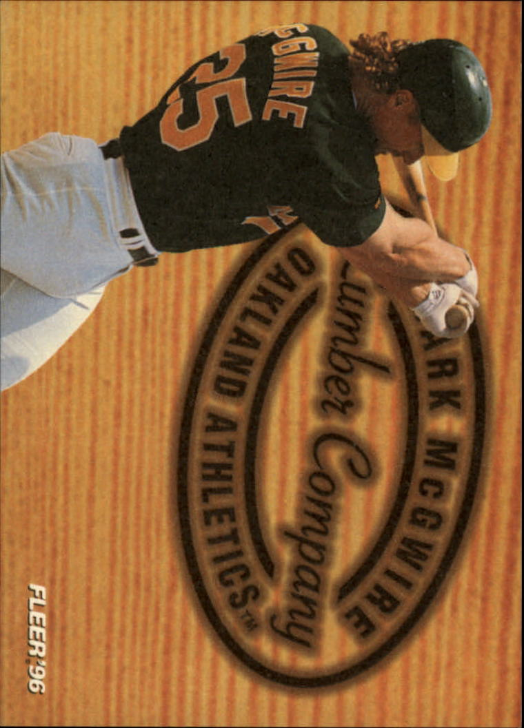 1996 Fleer Lumber Company #5 Mark McGwire