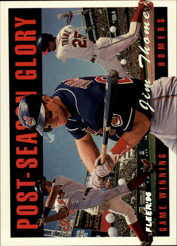 1996 Fleer Postseason Glory #5 Jim Thome