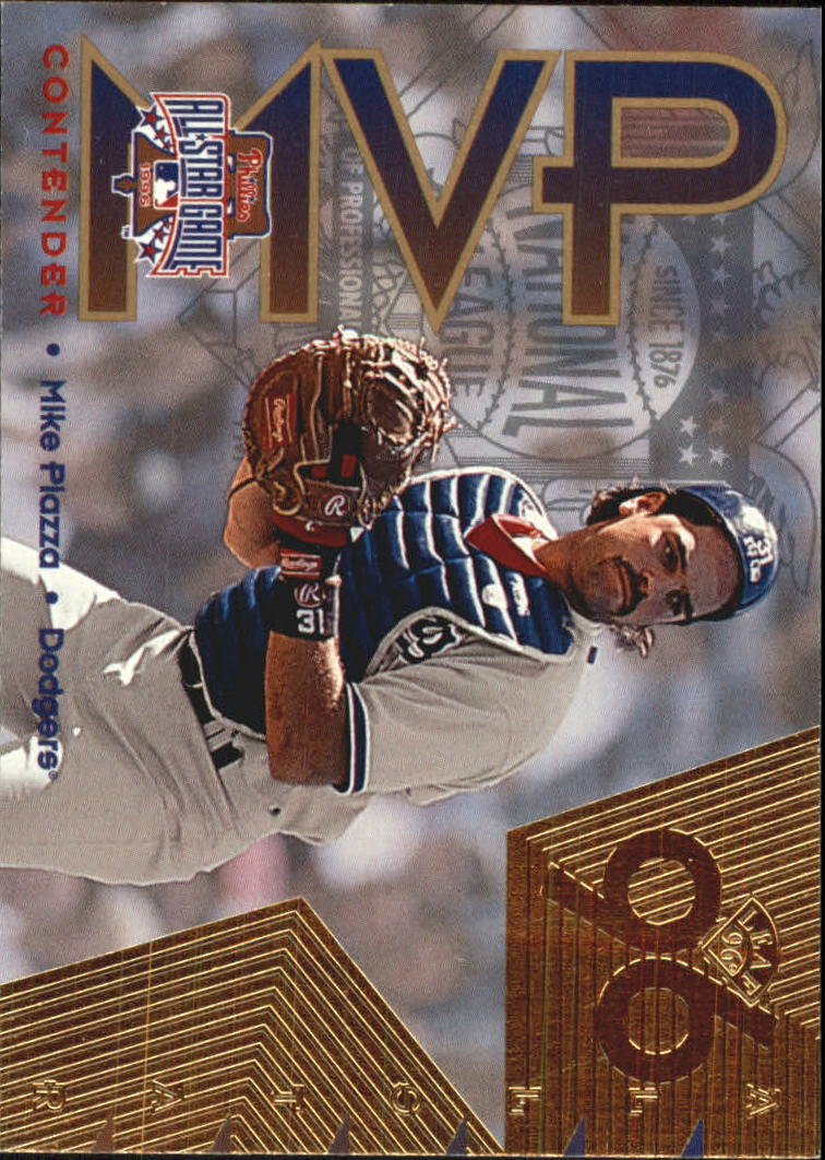 1996 Leaf All-Star Game MVP Contenders Gold #2 Mike Piazza W
