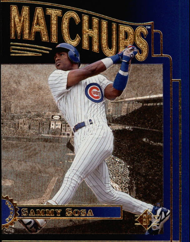 1996 SP Marquee Matchups #MM16 Sammy Sosa