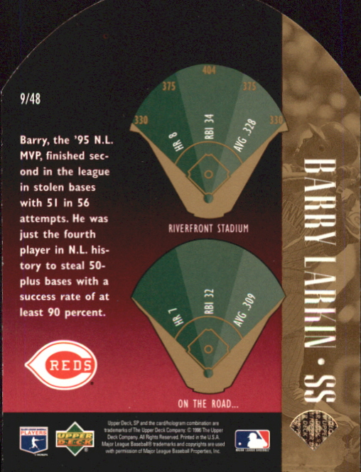 1996 SP Special FX Die Cuts #9 Barry Larkin