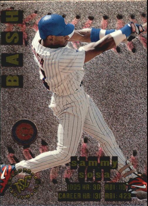 1996 Stadium Club Bash and Burn #BB1 Sammy Sosa
