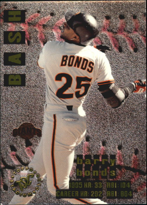 1996 Stadium Club Bash and Burn #BB2 Barry Bonds
