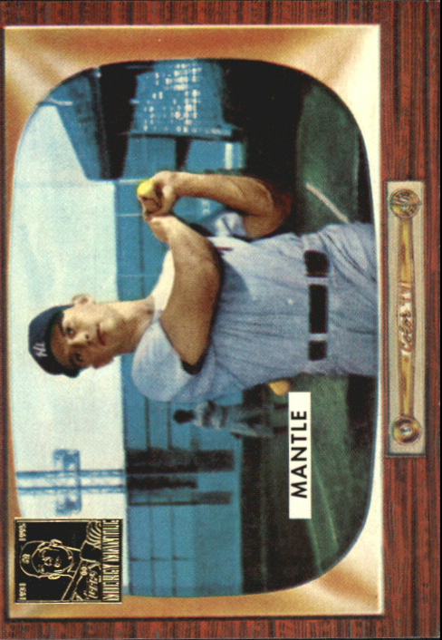 1996 Topps Mantle #5 Mickey Mantle/1955 Bowman