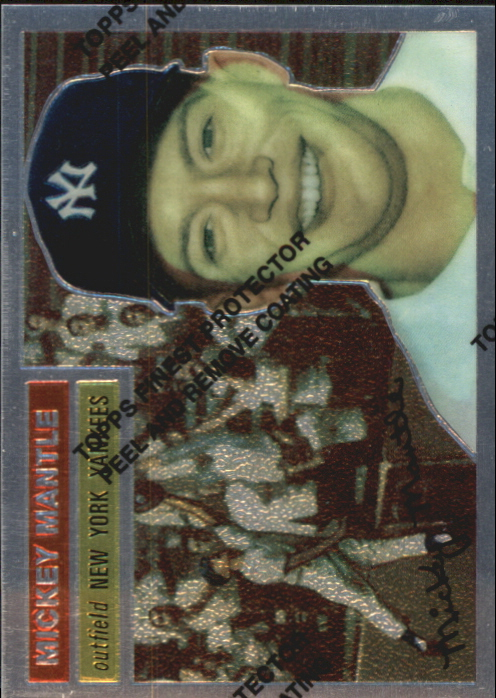 1996 Topps Mantle Finest #6 Mickey Mantle 1956 Topps