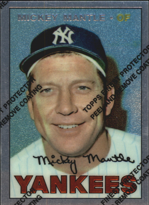 1996 Topps Mantle Finest #17 Mickey Mantle 1967 Topps