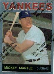 1996 Topps Mantle Finest Refractors #14 Mickey Mantle 1964 Topps