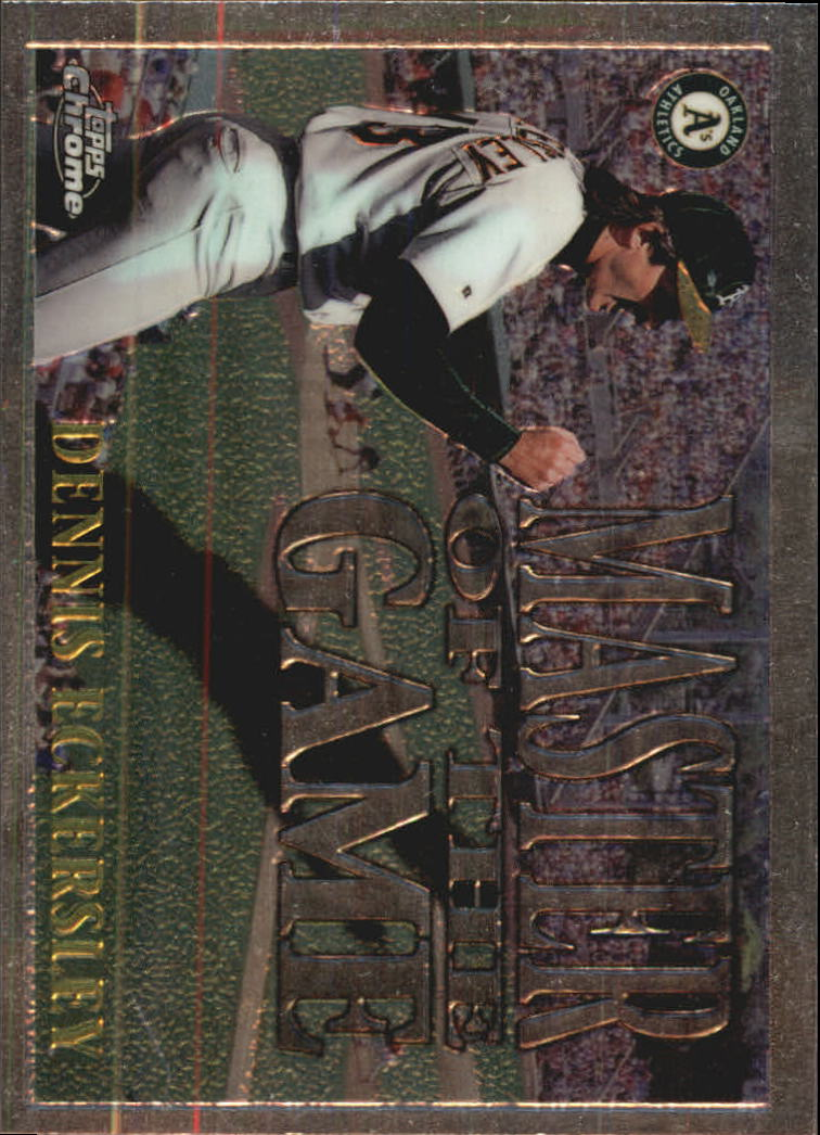 1996 Topps Chrome Masters of the Game #1 Dennis Eckersley