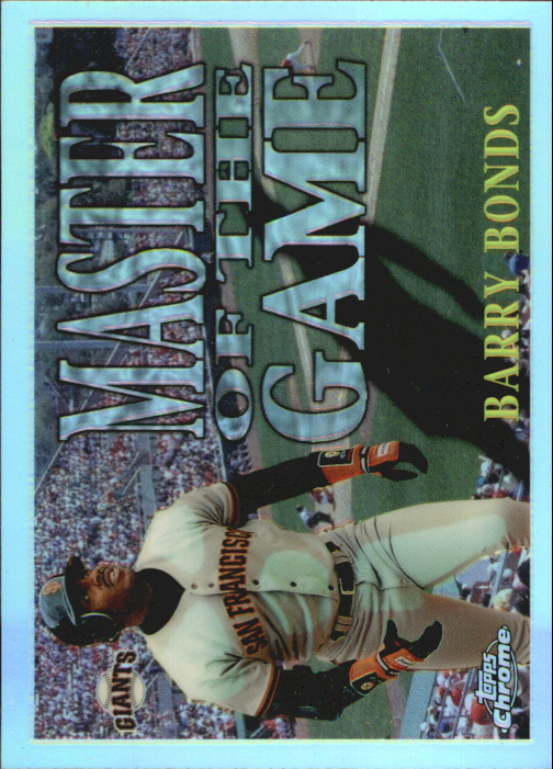 1996 Topps Chrome Masters of the Game Refractors #18 Barry Bonds