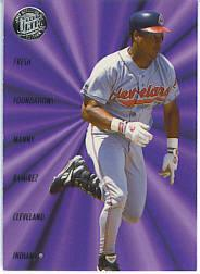 1996 Ultra Fresh Foundations Gold Medallions #9 Manny Ramirez
