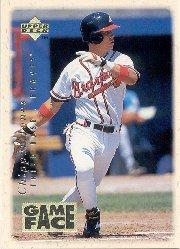 1996 Upper Deck Gameface #GF7 Chipper Jones