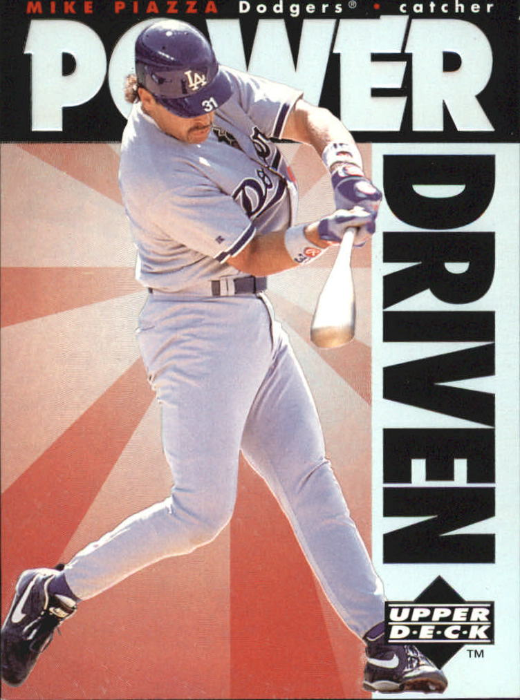 1996 Upper Deck Power Driven #PD12 Mike Piazza