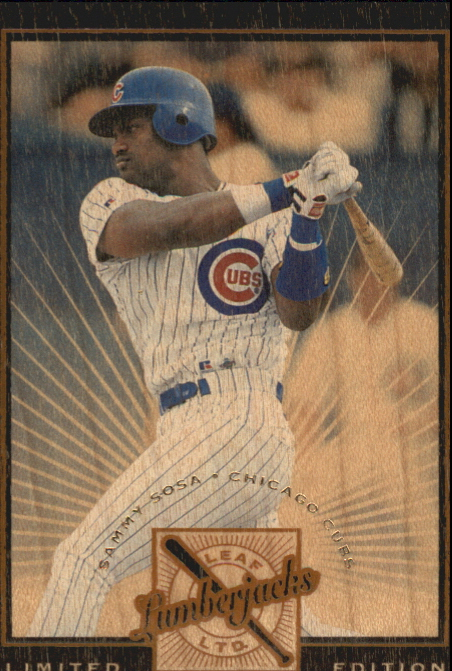 1996 Leaf Limited Lumberjacks Black #2 Sammy Sosa