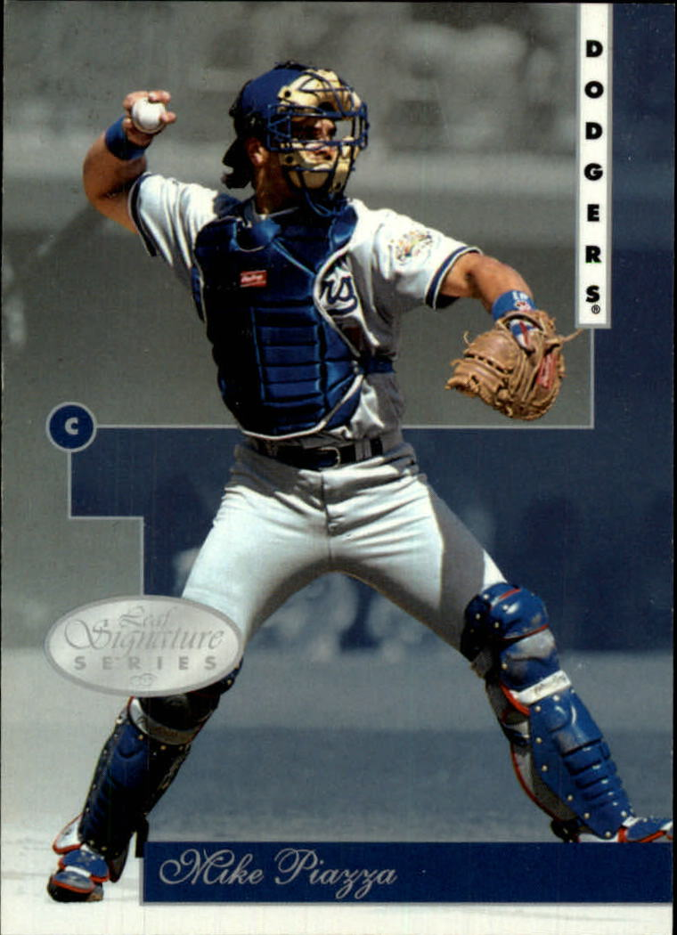 1996 Leaf Signature #1 Mike Piazza
