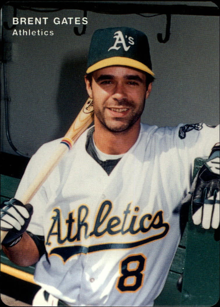 1996 A's Mother's #6 Brent Gates