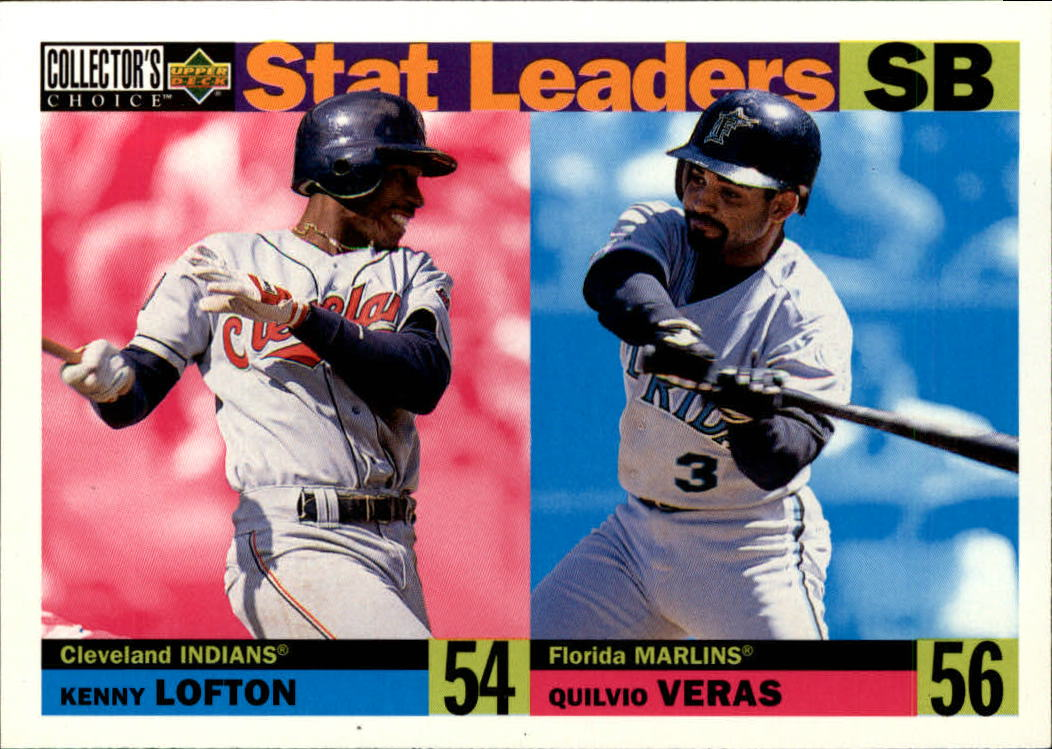 1996 Collector's Choice #5 K.Lofton/Q.Veras SL