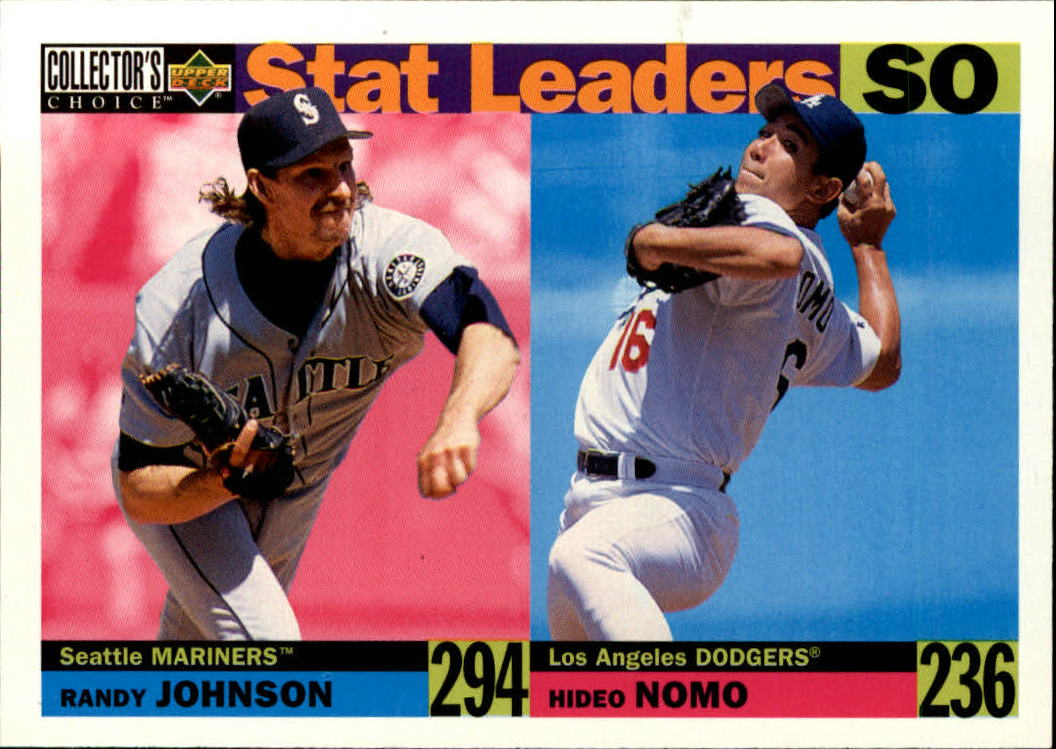 1996 Collector's Choice #7 R.Johnson/H.Nomo SL