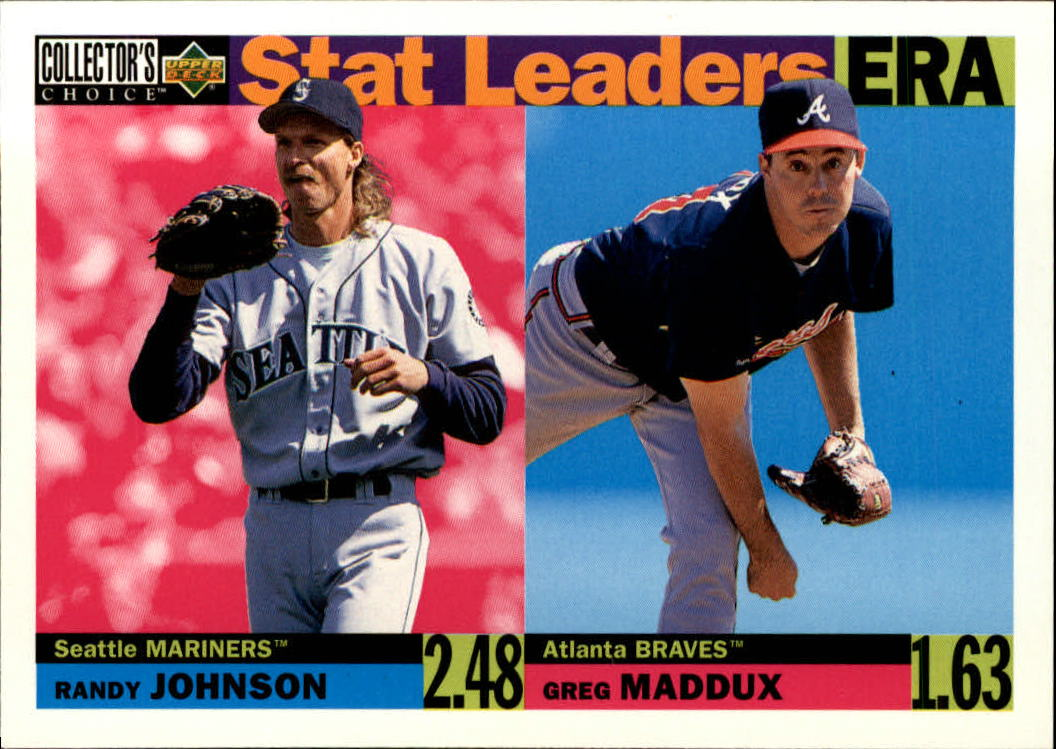 1996 Collector's Choice #8 R.Johnson/G.Maddux SL