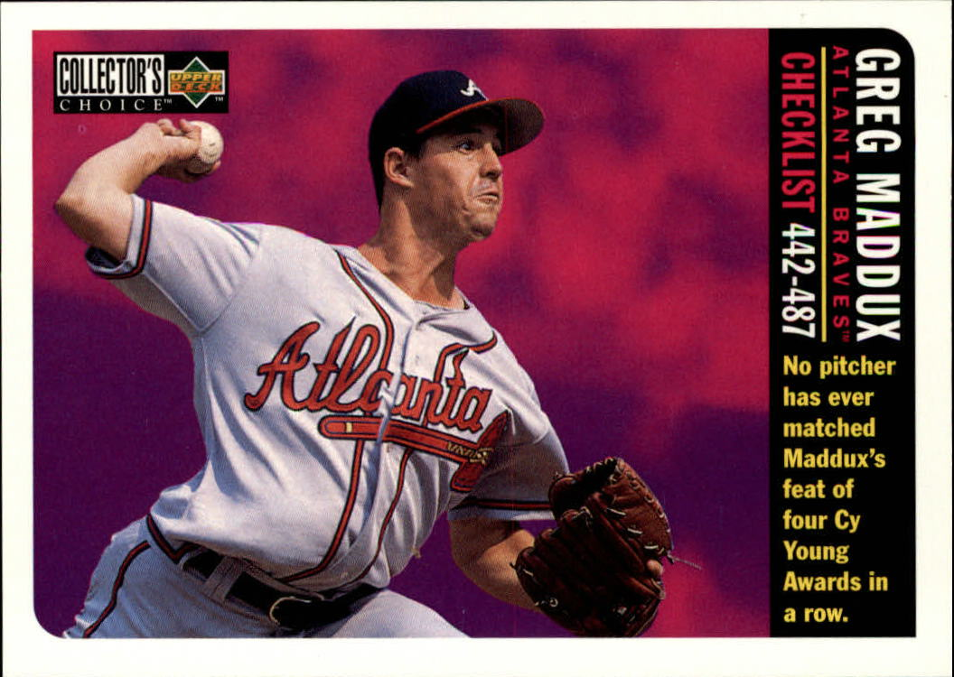1996 Collector's Choice #754 Greg Maddux CL