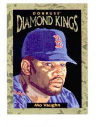 1996 Donruss Diamond Kings #2 Mo Vaughn