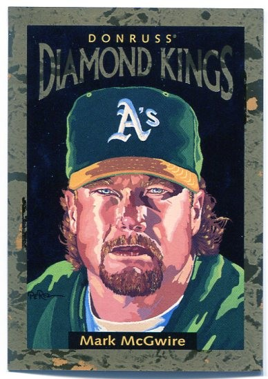 1996 Donruss Diamond Kings #4 Mark McGwire