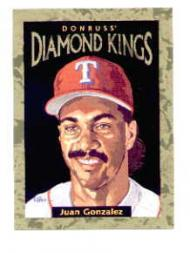 1996 Donruss Diamond Kings #5 Juan Gonzalez